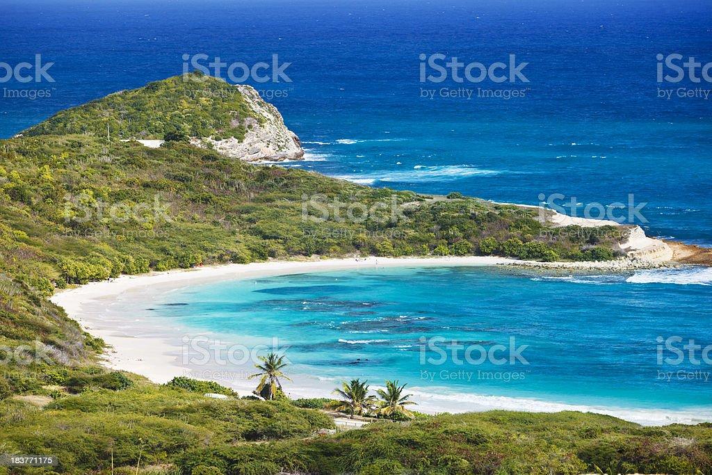 Half Moon Bay, Antigua stock photo