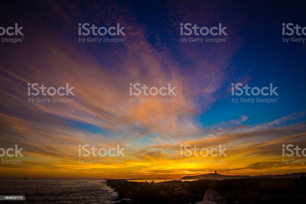 Half Moon Bay Sunset stock photo