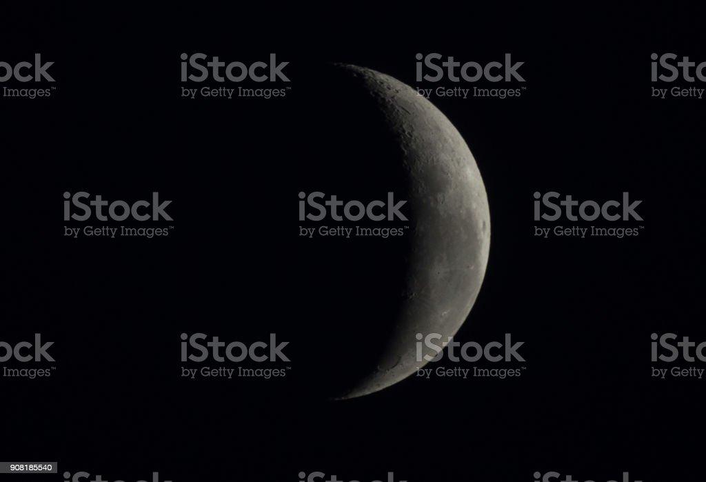 Half moon concept. It half moon of black dark night stock photo