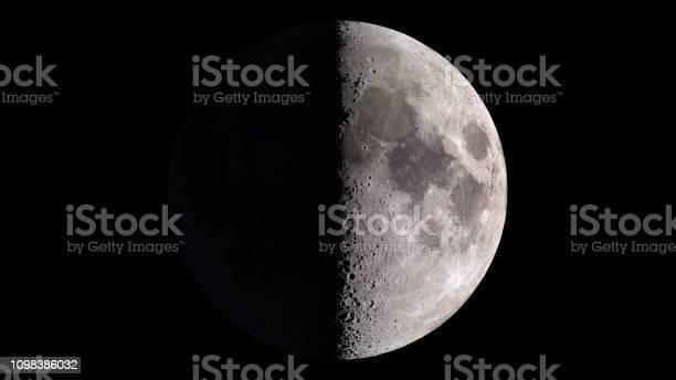 Photo of Half moon on black sky