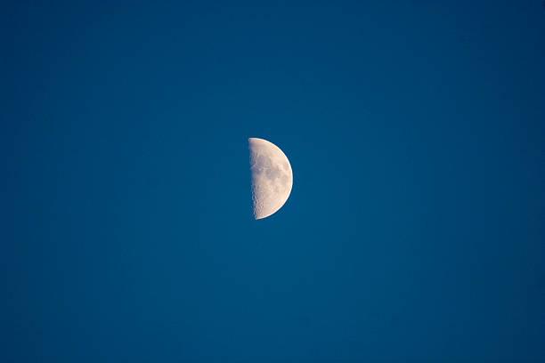 Half moon auf dem Nacht Himmel – Foto