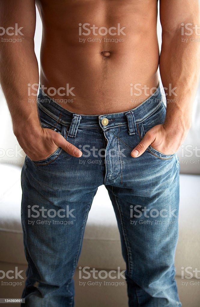 Half naked fitness man royalty-free stock photo