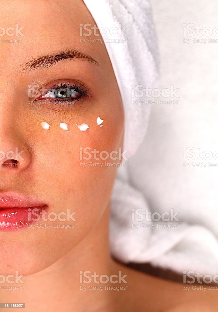Half of a woman's face stock photo