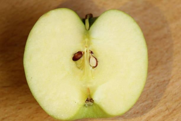 Half of an apple stock photo