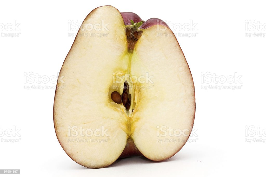 Half of apple. royalty-free stock photo