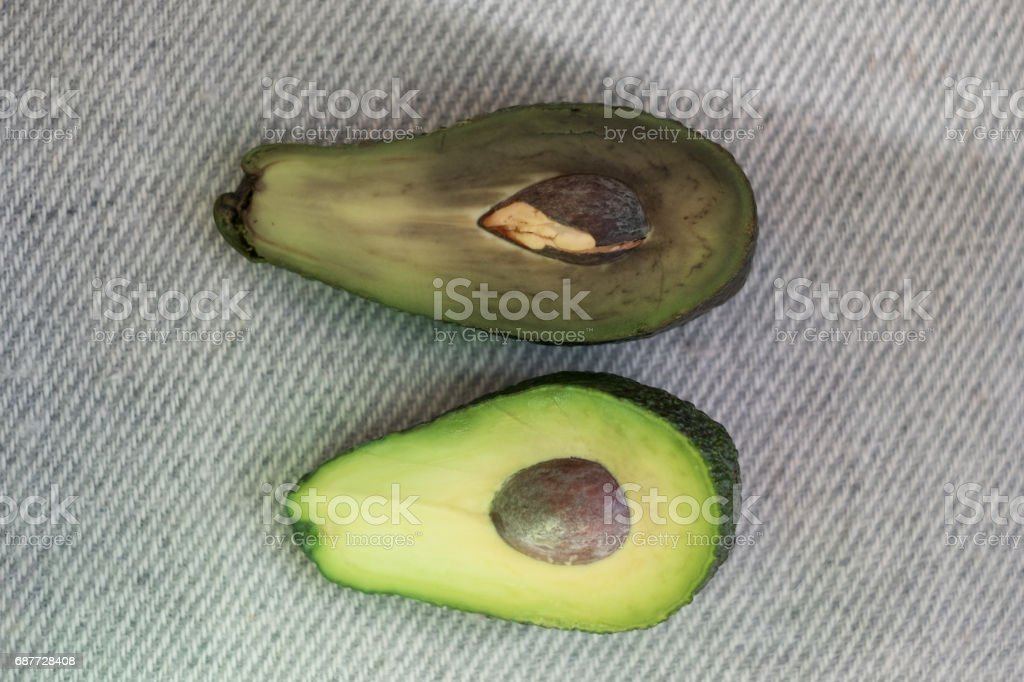 Half of avocado stock photo
