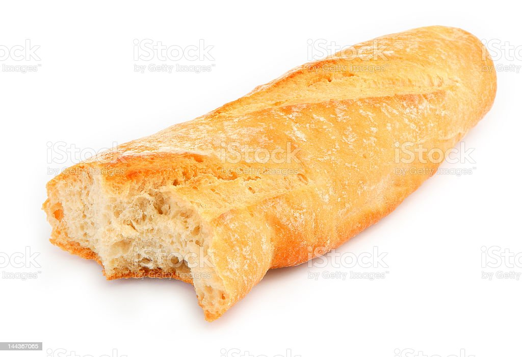 half of baguette royalty-free stock photo