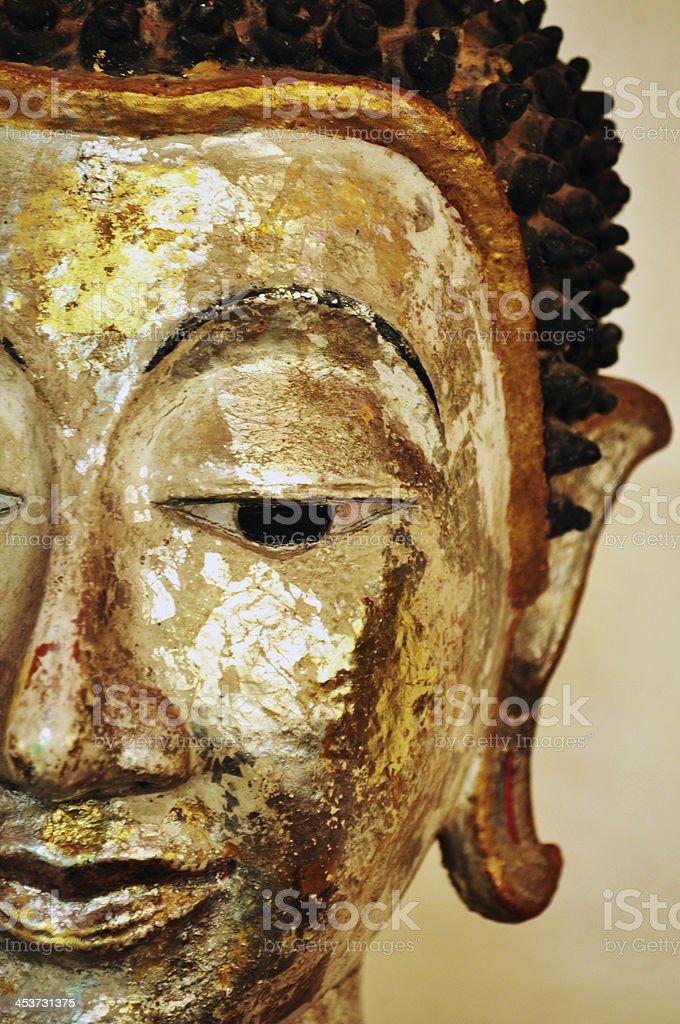 Half of Buddha's face stock photo