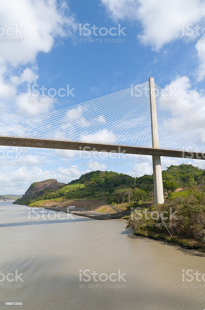 Half of Centennial Bridge Panama Canal royalty-free stock photo