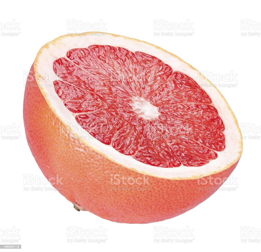 Half of grapefruit stock photo