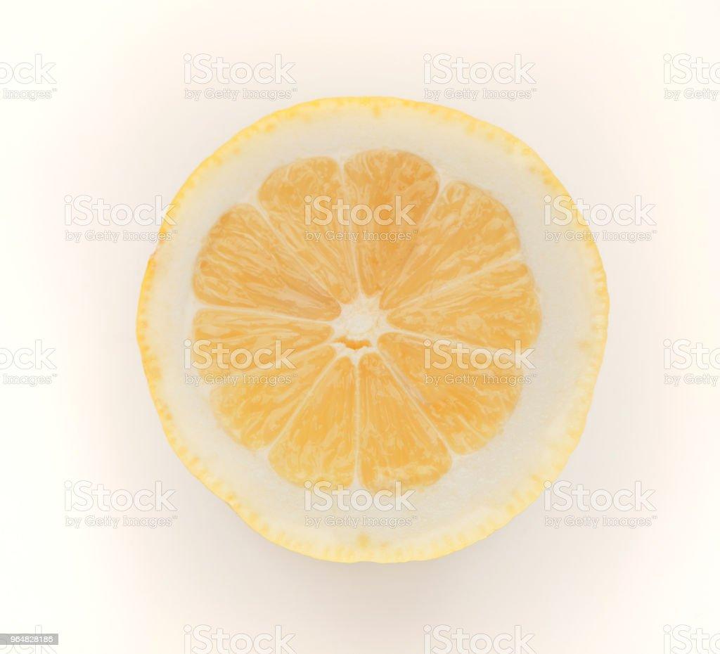 Half of lemon isolated on white background royalty-free stock photo