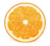 istock Half of orage fruit slice isolated on white 950915068