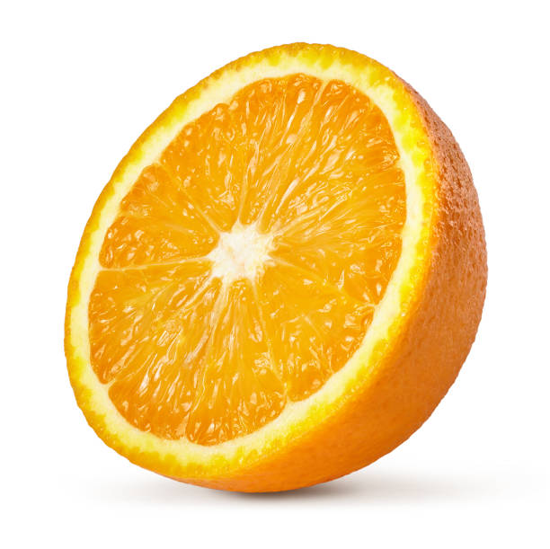 A half of orange. A half of orange isolated on whote background. halved stock pictures, royalty-free photos & images