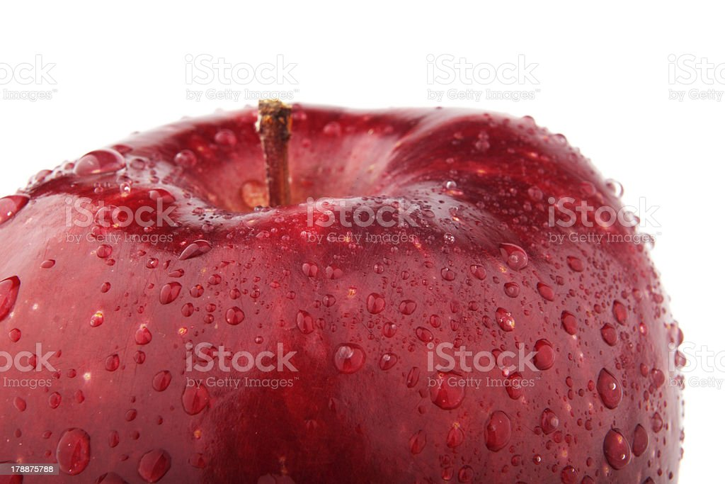 Half of red apple royalty-free stock photo