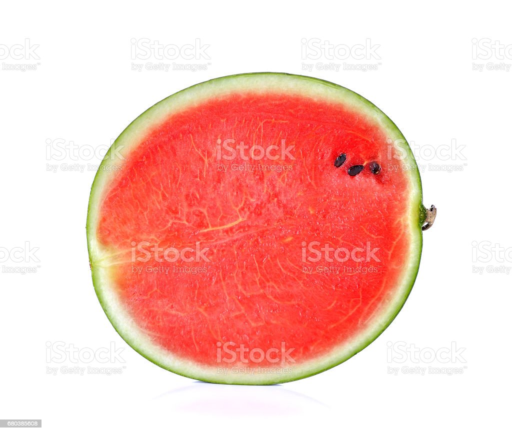 half of ripe watermelon isolated on white background royalty-free stock photo