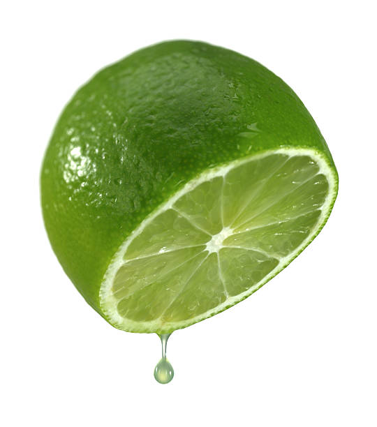 Half of the lime. stock photo