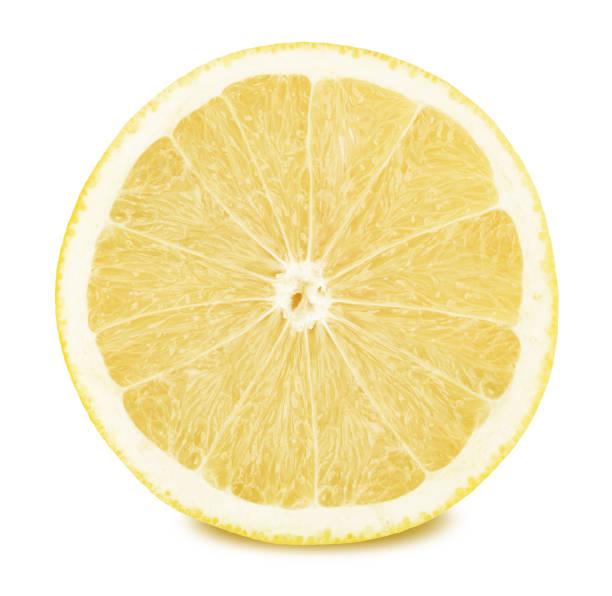 白い背景に分離されたホワイト グレープ フルーツの半分 - グレープフルーツ ストックフォトと画像