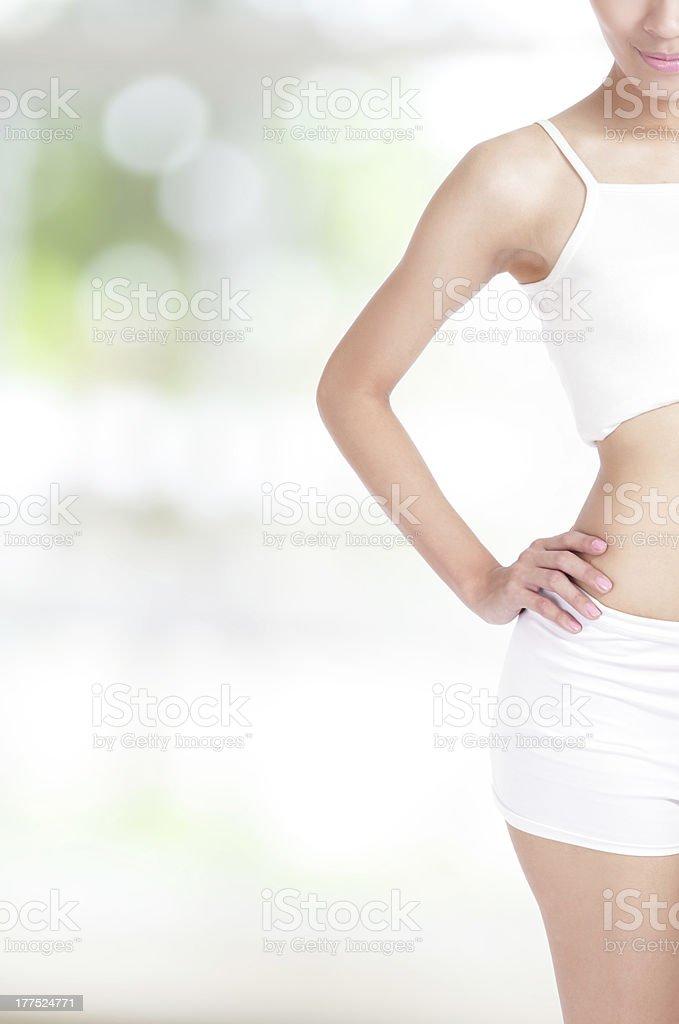 half of woman body royalty-free stock photo