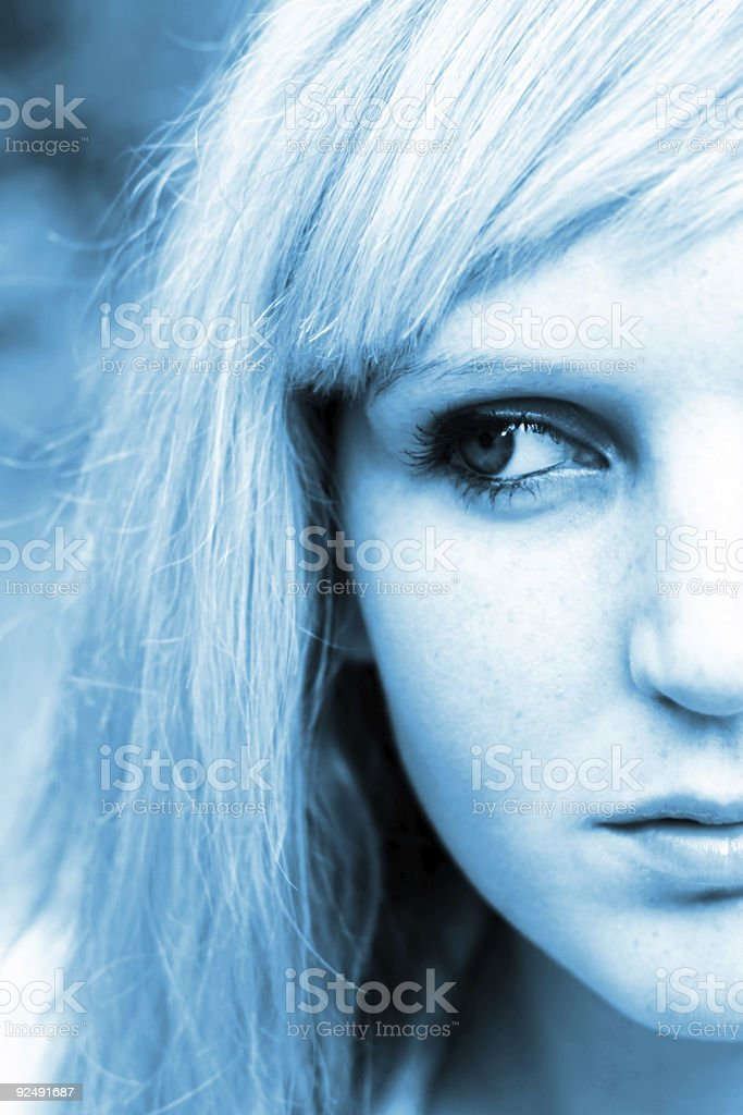 Half of womans face royalty-free stock photo