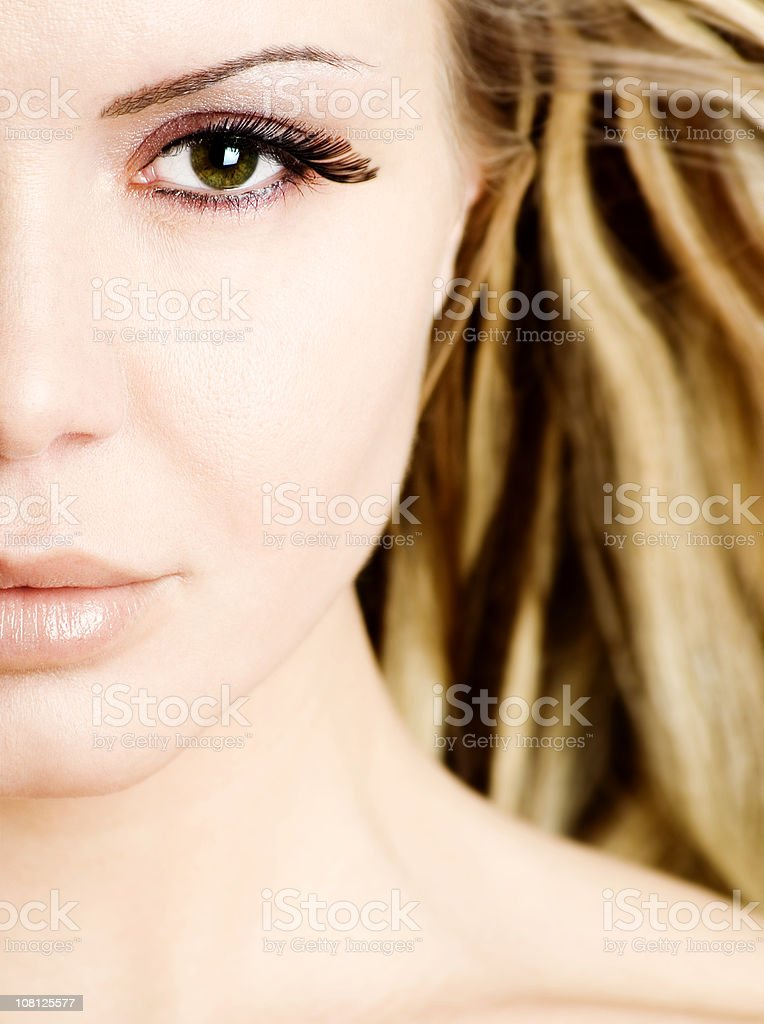 Half of Young Woman's Face royalty-free stock photo