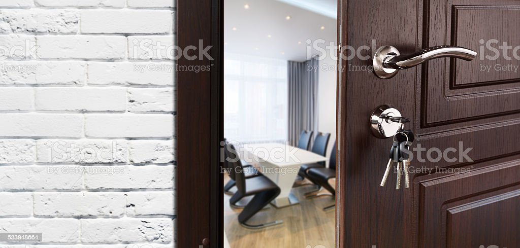 open door welcome white open half open door welcome to the office royaltyfree stock photo open door welcome to the office stock photo more pictures of