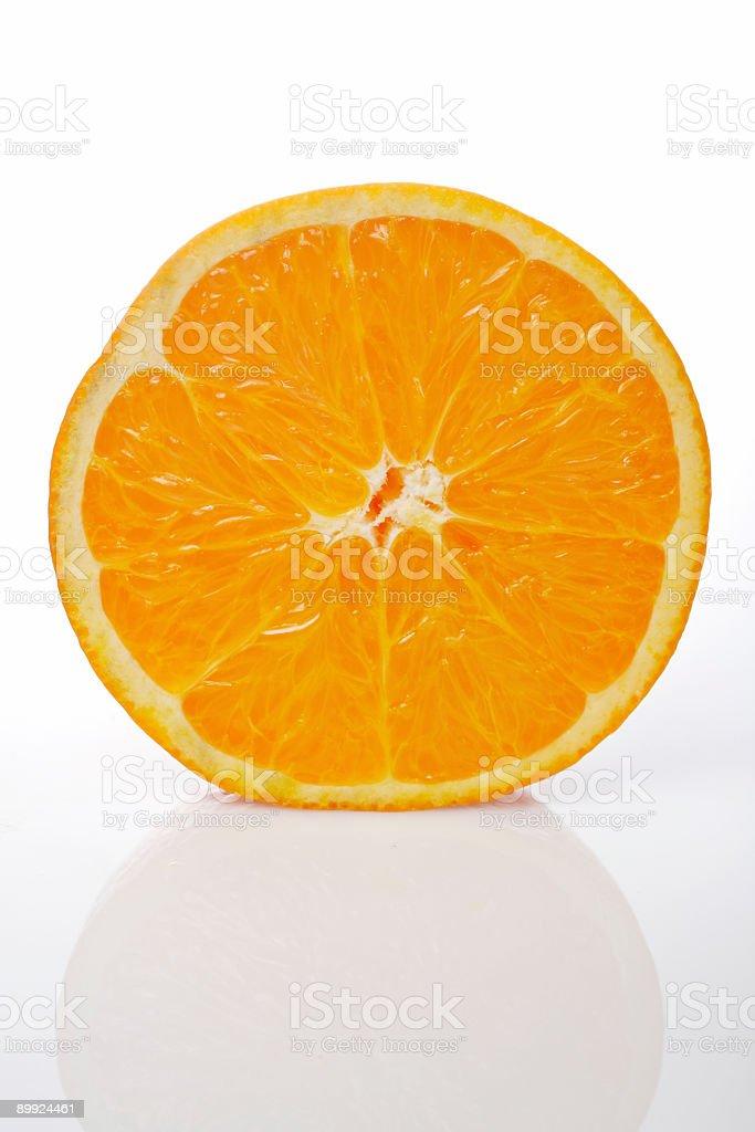 Half orange royalty-free stock photo