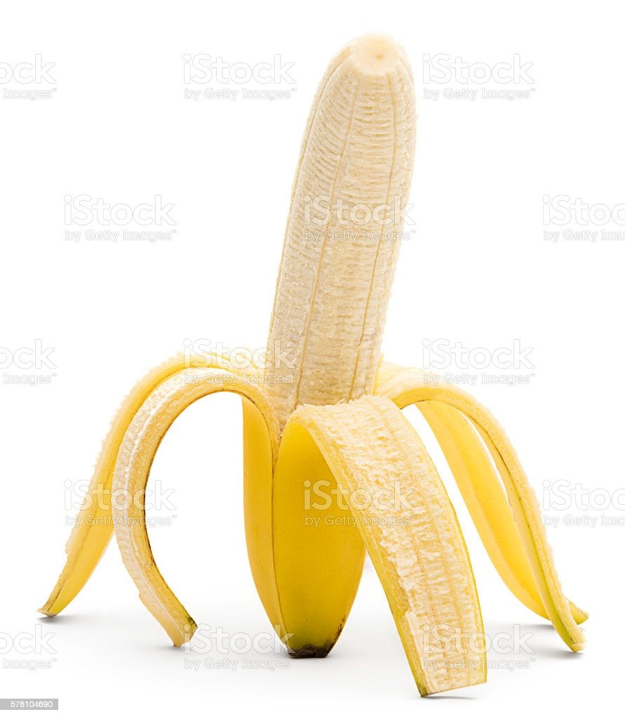 38fe822f4ef70 Half Peeled Banana Stock Photo   More Pictures of Banana - iStock