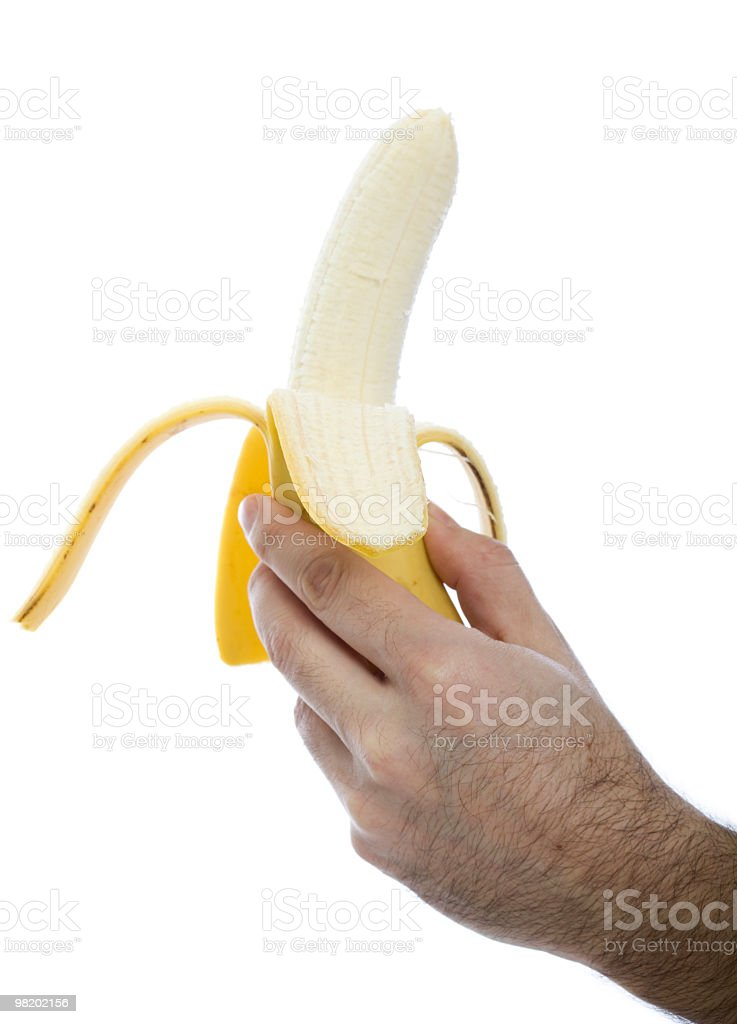 Half peeled banana royalty-free stock photo