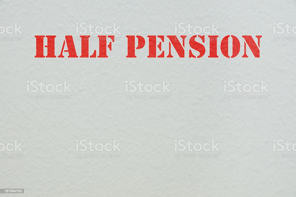 half pension royalty-free stock photo