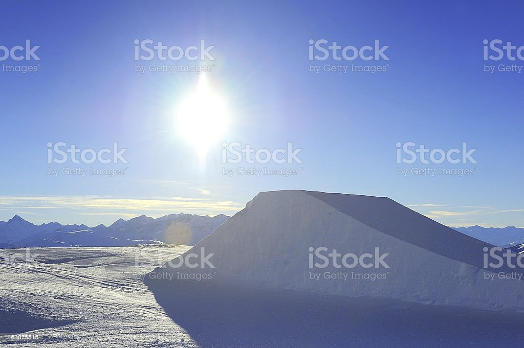Half pipe in Laax stock photo