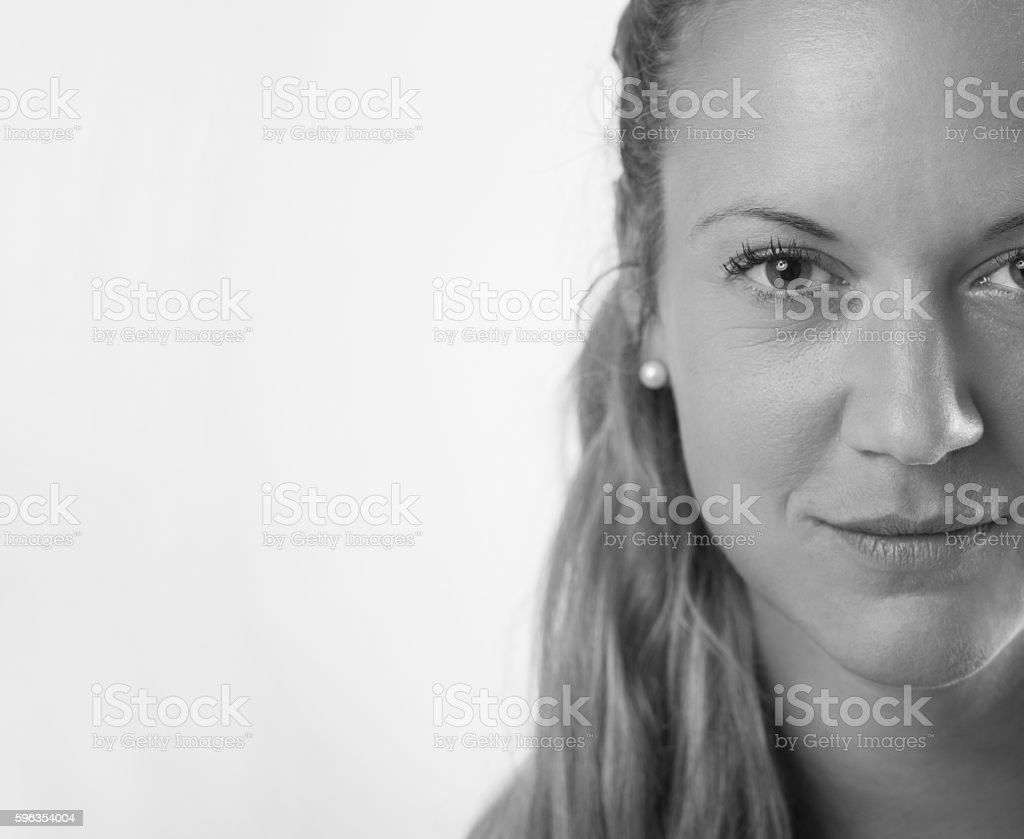 Half portrait of a blonde women royalty-free stock photo