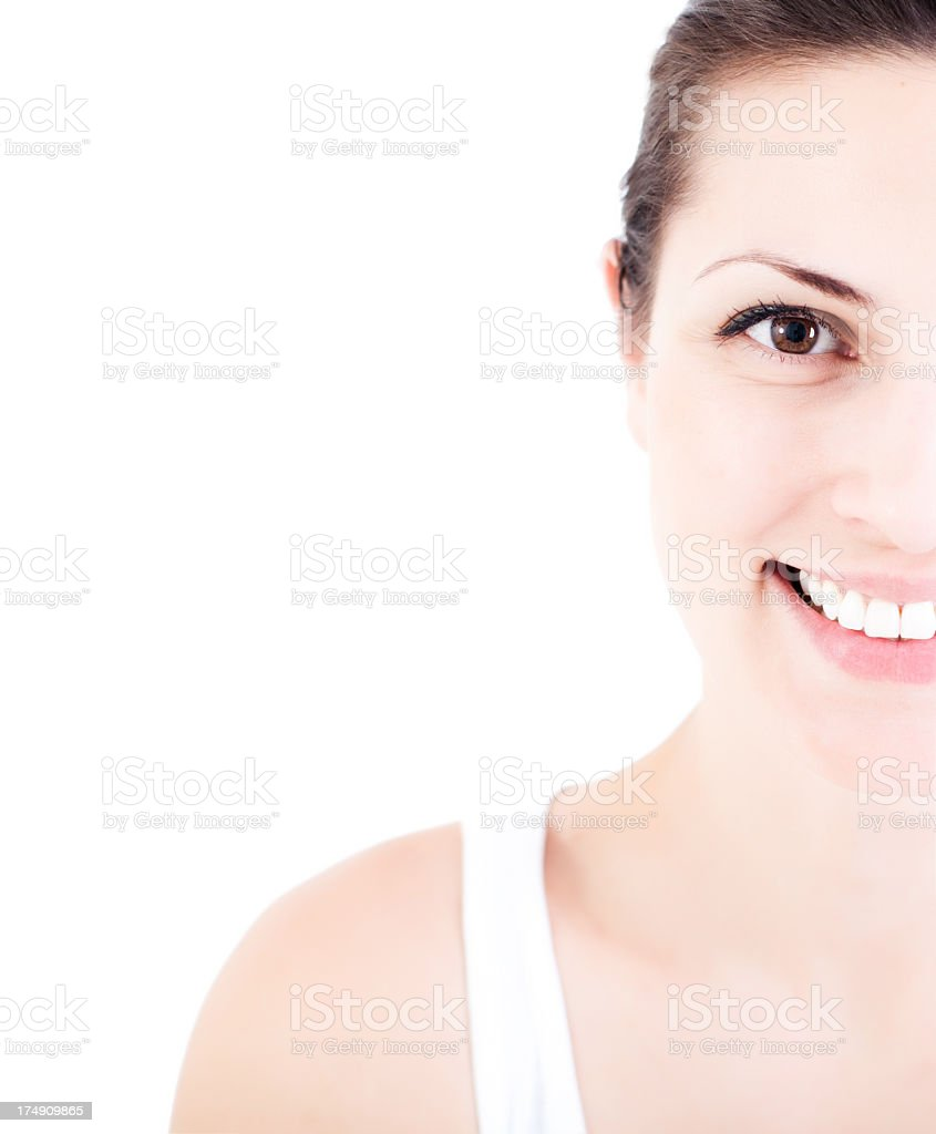 Half portrait of a smiling woman royalty-free stock photo