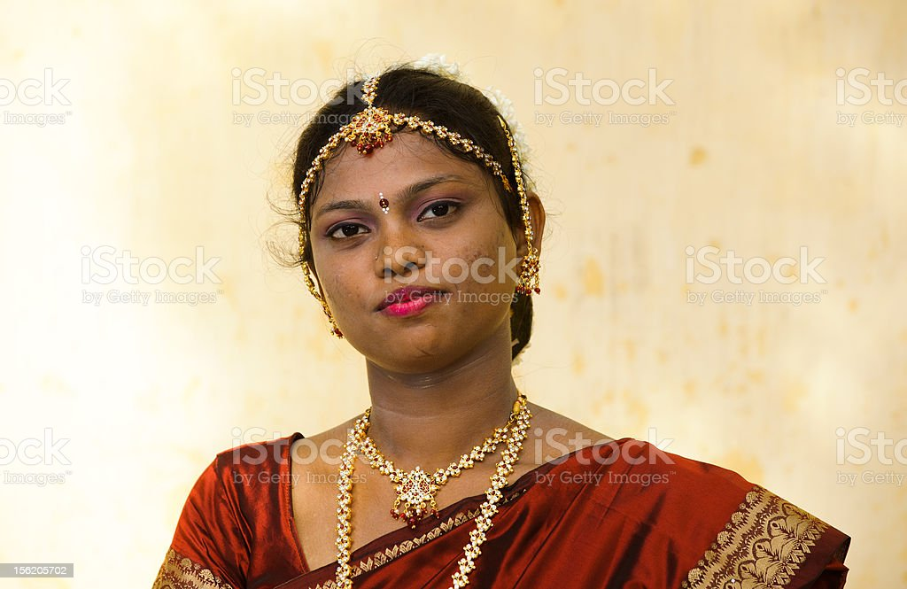 half portrait of an indian bride royalty-free stock photo