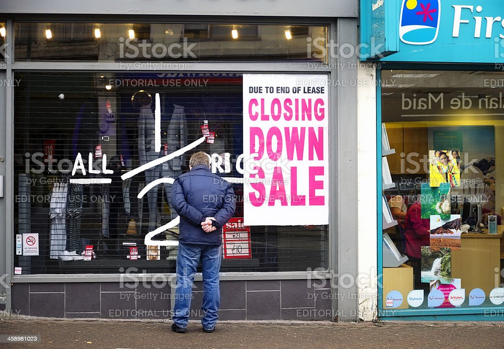Half price sale - closing down stock photo