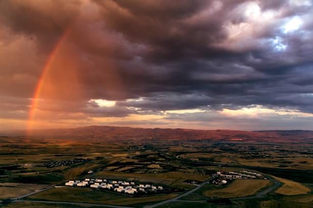 Half Rainbow stock photo