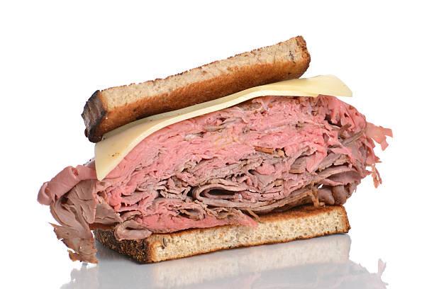half-sandwich - roast beef sandwich stock-fotos und bilder
