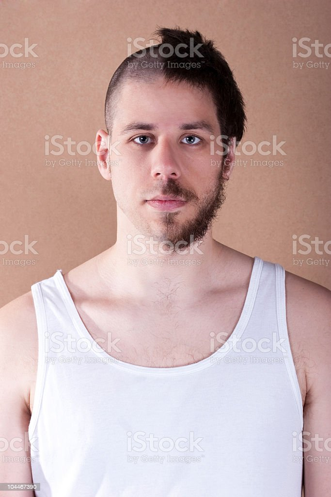 Half shaved male royalty-free stock photo