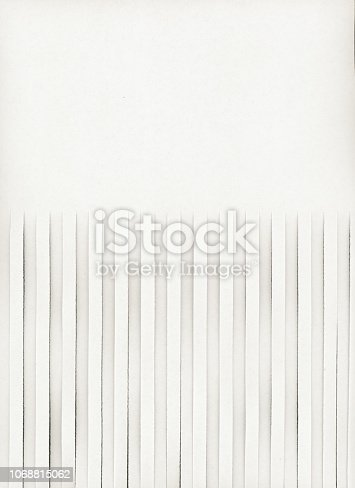 half shredded blank page with copy space useful as a background