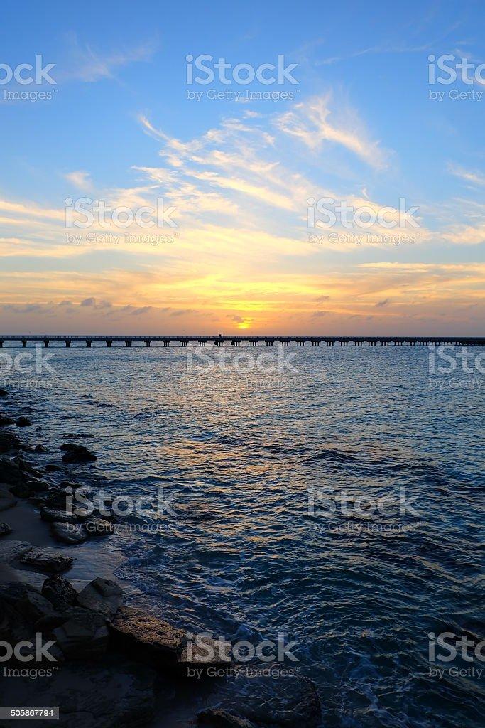 Half Sky Half Sea stock photo