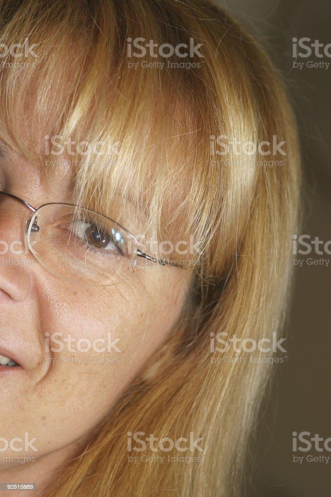 half smile royalty-free stock photo