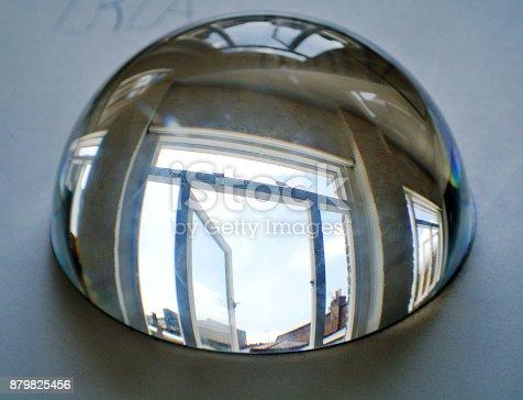 585059140 istock photo half sphere of crystal 879825456