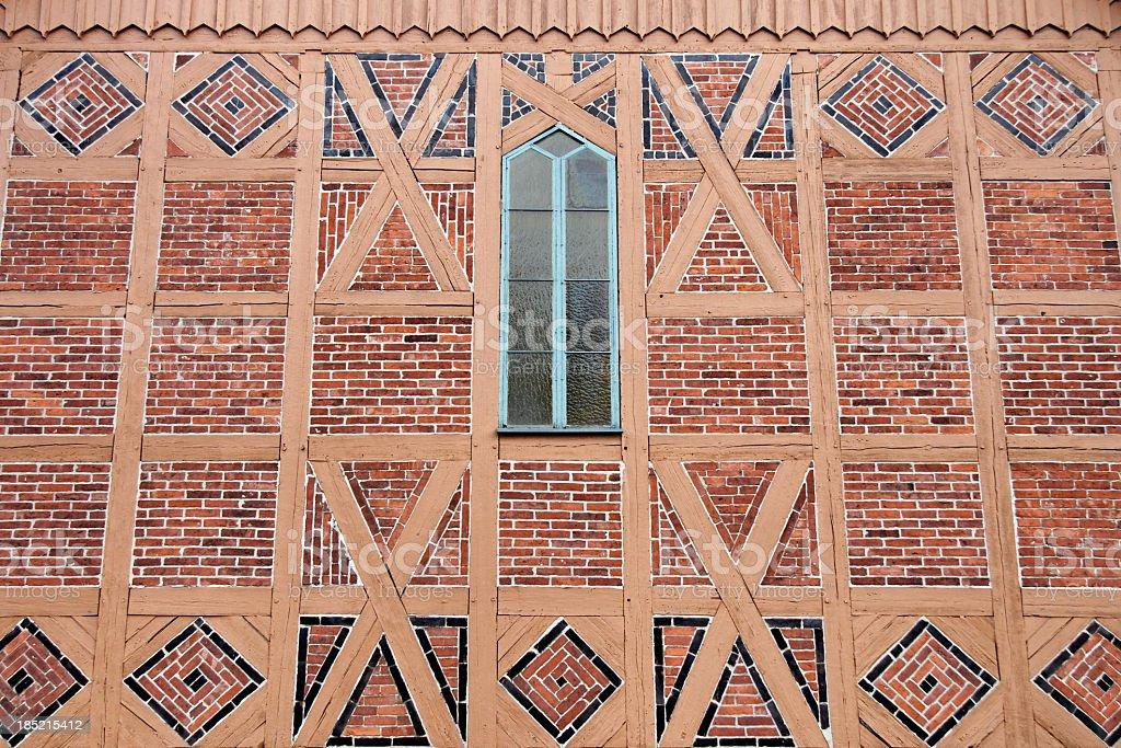 half timbered brick facade royalty-free stock photo
