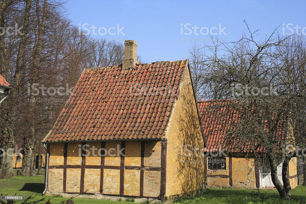 Half timbered house at Academia Sorana / Sorø Akademi royalty-free stock photo