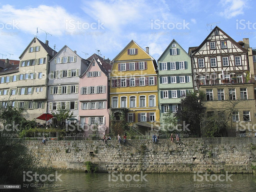 half timbered house front royalty-free stock photo