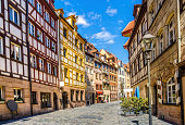istock Half timbered Houses in Nuremberg´s Weissgerbergasse 170062784