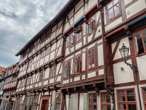 Half timbered houses in the center of Gottingen, Germany