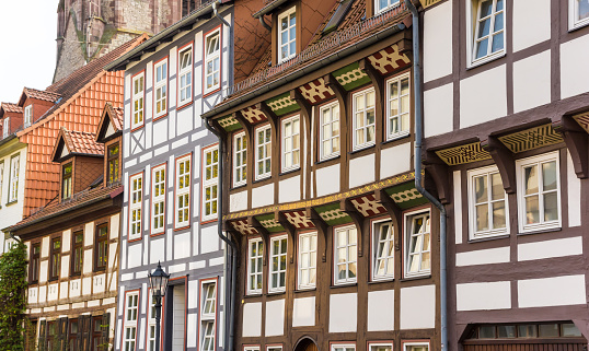 Half timbered houses in the historic center of Gottingen, Germany