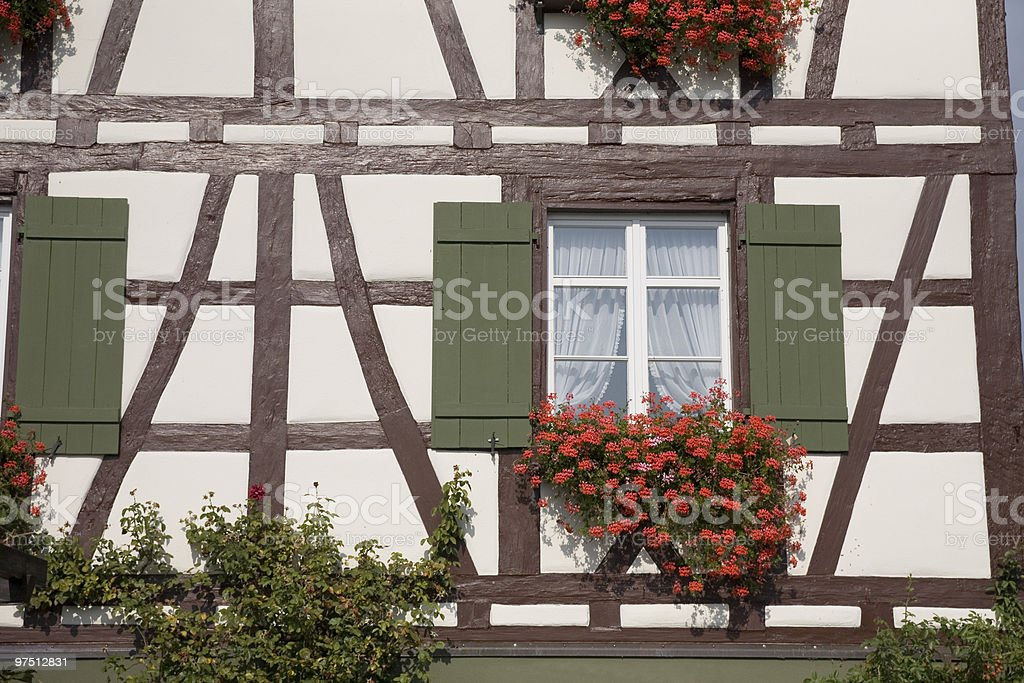 Half timbering traditional german house. royalty-free stock photo