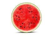 istock Half watermelon with isolated on white 1143084355