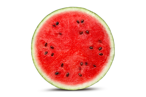 Half watermelon with isolated on white background